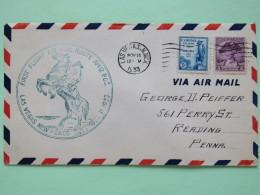 USA 1933 First Flight Cover Las Vegas To Reading - Washington - Kosciuszko (Poland) - Horse Mailman - United States