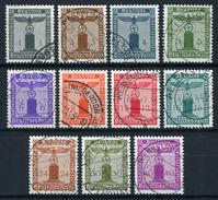 33407) DEUTSCHES REICH # 155-65 Gestempelt Aus 1942, 300.- €