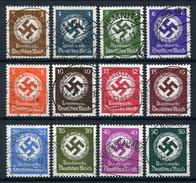 33408) DEUTSCHES REICH # 166-77 Gestempelt Aus 1942/44, 550.- €