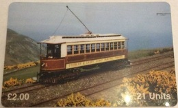 Isle Of Man - ManTEL-0088, Tram No.1, 5,000ex, 1995, Used As Scan