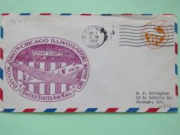 USA 1937 First Flight Stationery Cover Dayton To Chicago - Plane - United States