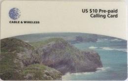 Turks & Caicos - Prepaid C&W, MV : T&C-P4,Mudijin Harbour, 10.000ex, 1999, Used