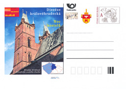 Czech Rep. / Postal Stat. (Pre2016/98) Night Of Churches 2016 (2 Pcs.) Hradec Kralove Diocese & Ostrava-Opava Diocese