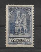 FRANCE 1938  Fetes De La Restauration Dela Cathedrale De REIMS   YT 399 Neuf** /