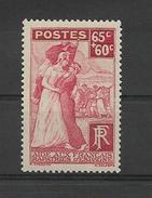 FRANCE 1938  Au Profit Des Français Rapatries D'Espagne   YT 401  Neuf**