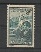 FRANCE 1938  Oeuvres Sociales En Faveur Des étudiants    YT 417  Neuf**