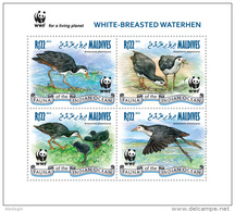 MALDIVES 2013 - WWF. Waterhen - YT 4075-8, Mi 4872-5, Sc 3022
