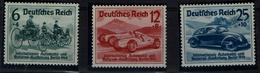 GERMANY 1939 DEUTSCES REICH INTERNATIONALE AUTOMOBIL MI No 686-8 MLH VF!!