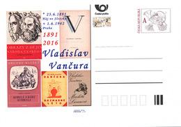 Czech Rep. / Postal Stat. (Pre2016/23) Vladislav Vancura (1891-1942), 125th Birth Anniversary