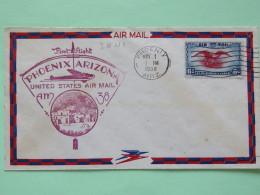 USA 1938 First Flight Cover Phoenix - Eagle - Plane