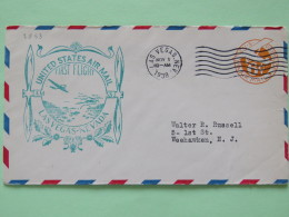 USA 1938 First Flight Stationery Cover Las Vegas To Weehawken - Plane