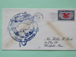 USA 1938 First Flight Cover Mobile To Westfield - Eagle - Plane - Ships