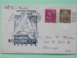 USA 1938 First Flight Cover Boulder City To Chicago - Plane - Dam - Adams - Taft