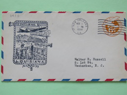 USA 1938 First Flight Stationery Cover New Orleans To Weehawken - Plane - Steam Ship