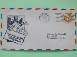 USA 1939 First Flight Stationery Cover Birmingham To Weehawken - Plane