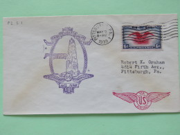 USA 1939 First Flight Cover Pittsburgh To Pittsburgh - Eagle - US Wings