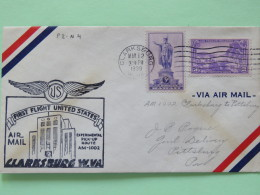USA 1939 First Flight Cover Clarksburg To Pittsburgh - Statue Of Kamehameha Honolulu - Charlotte Amalie Virgin Islands S
