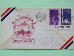 USA 1939 First Flight Cover Pittsburgh To Philadelphia - Golden Gate - New York World Fair