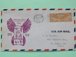 USA 1939 First Flight Cover Corry To St. Louis - Wings