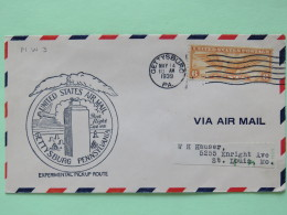 USA 1939 First Flight Cover Gettysburg To St. Louis - Wings