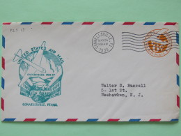 USA 1939 First Flight Stationery Cover Connellsville To Weehawken - Plane