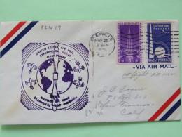 USA 1939 First Flight Cover Glenville To San Francisco - Planes - Golden Gate -- New York World Fair