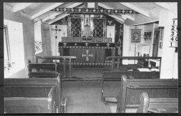 1980 Tristan Da Cunha Church Postcard + Stamp - Tristan Da Cunha