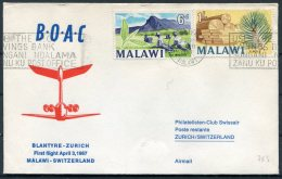 1967 Malawi BOAC,  B.O.A.C. First Flight Cover Blantyre - Zurich, Switzerland