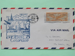 USA 1939 First Flight Cover Pueblo To St. Louis - Wings - Industry