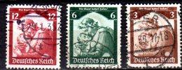 1935 D. Reich - Saarabstimmung / Saar Referendum - 3v Used - Mi 565/67 -