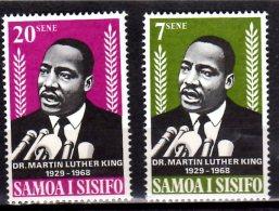 1965 Samoa - Tod Von Martin Luther King/ Death Of M.L. King - 2v MNH** MI 185/86 Xdr