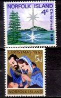 1965/66 Norfolk - Chrismas 1+1v MNH** Xdr Mi 61+78