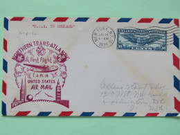 USA 1939 First Flight Cover New York (Trans-Atlantic To England) To Washington - Wings (30 Cents High Franking) - Plane