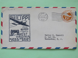 USA 1939 First Flight Stationery Cover Philippi To Weehawken - Plane - Cannon