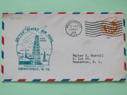USA 1939 First Flight Stationery Cover Grantsville To Weehawken - Plane - Petroleum Tower