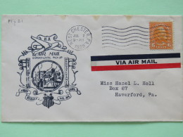 USA 1939 First Flight Cover West Chester To Haverford - Plane - Garfield