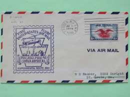 USA 1939 First Flight (rotory-wing Aircraft) Cover Philadelphia From Camden To St. Louis - Eagle