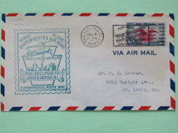 USA 1939 First Flight (rotory-wing Aircraft) Cover Philadelphia To St. Louis - Eagle - Plane Cancel