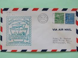USA 1939 First Flight (rotory-wing Aircraft) Cover Philadelphia To Pittsburgh - Monroe - Washington - Plane Cancel