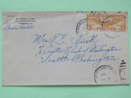 USA 1939 Air Mail Cover Pittsburgh To Seattle - Wings