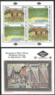 Palau,  Scott 2017 # 319-320,  Issued 1993,  S/S Of 4 + S/S Of 1,  MNH,  Cat $ 8.25,  Paintings - Palau