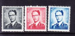 BELGIQUE, 1953 COB 924/6 ** MNH.  (3T354) - 1953-1972 Glasses