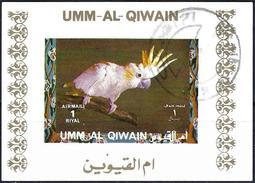 Umm Al-Qiwain 1972 - Tropical Birds ( Mi B1402B - YT Xxx ) Block Impeforated