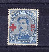 BELGIQUE, COB 156 * MH. (4TJ135)