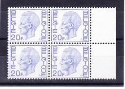 BELGIQUE COB 1587 P5a EPACAR ** MNH, BLOC DE 4.  (3T613)
