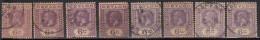 6c Shades, Multi Script KGV Series, Ceylon Used 1921 - Ceylon (...-1947)