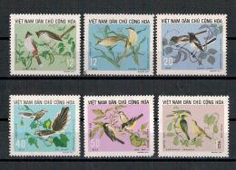 Vietnam, Vögel | Birds MiNr. 735 - 740, 1973** MNH