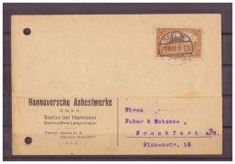 Deutsches Reich, Beleg MiNr. 114 Seelze Nach Frankfurt Am Main 03.08.1922