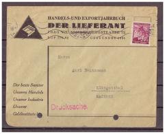 Böhmen Und Mähren, Drucksache MiNr. 24 Prag Nach Klingenthal, Sachsen 22.08.1941