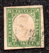 Italy SARDINIA Yvert # 10b USED Stamp - Sardegna